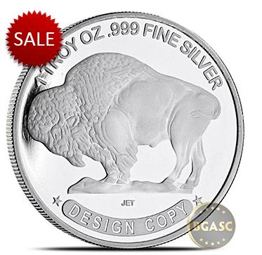 Buffalo silver round back