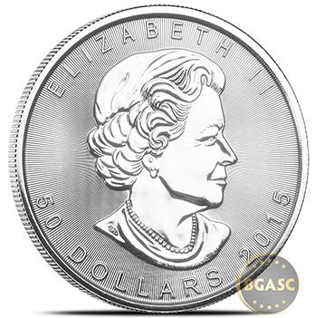 Canadian Platinum Maple Leaf front
