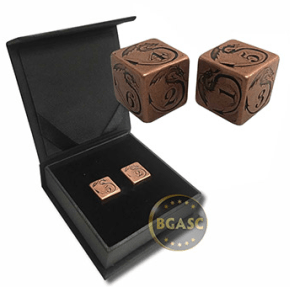 Copper dice dragon design