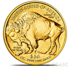 Gold buffalo reverse