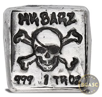 MK Barz Silver Jolly Roger front