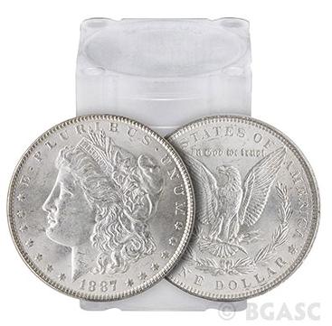 Morgan Silver Dollars Tube