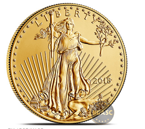 One ounce Gold Eagle Front 2018