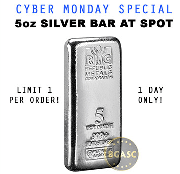 Republic silver bar cyber monday