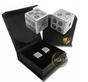 Silver dice viking design
