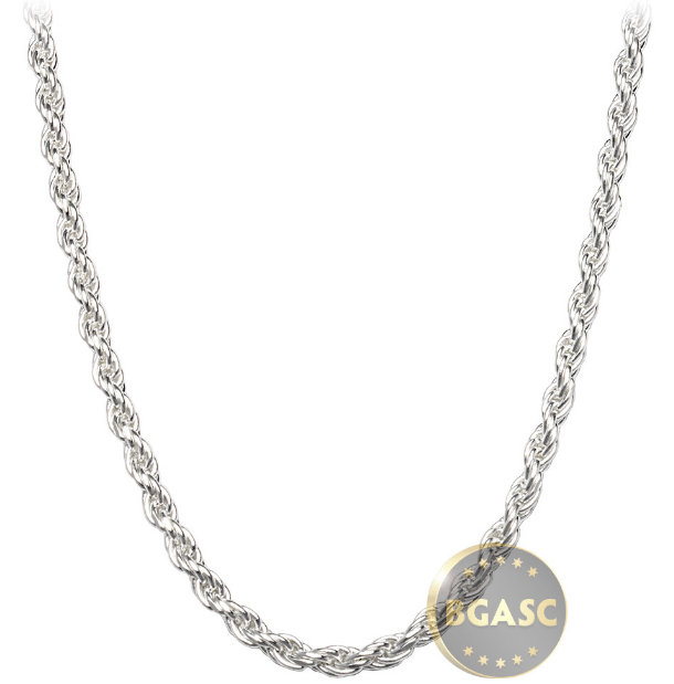 Silver necklace bgasc