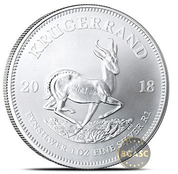 South African Silver Krugerrand back