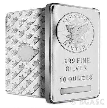 Sunshine minting 10 ounce silver bar