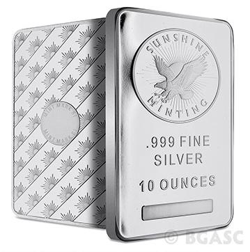 Sunshine minting 10 ounce silver bar