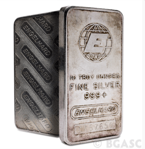 Tall engelhard silver bar