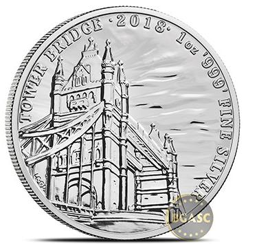 Tower Bridge Silver round