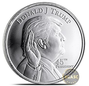 Trump silver round front