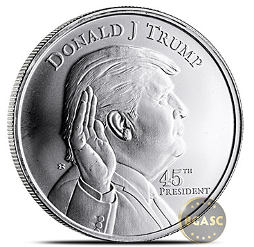 President Trump Silver Rounds Hit The Market Bgasc Gold