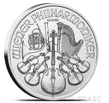 silver philharmonic coin bgasc