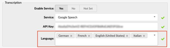 Voicemail Languages
