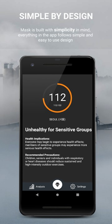 Mask the AQI Monitor Application