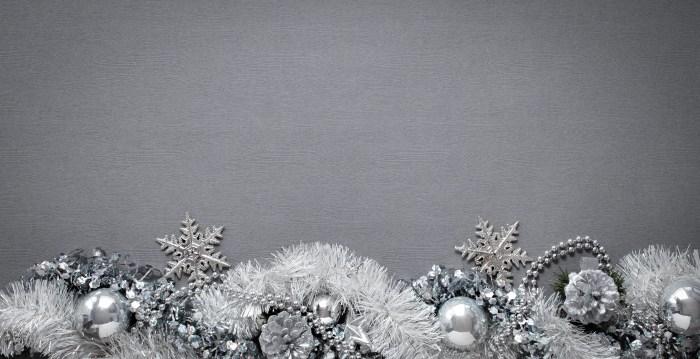 silver white christmas decor
