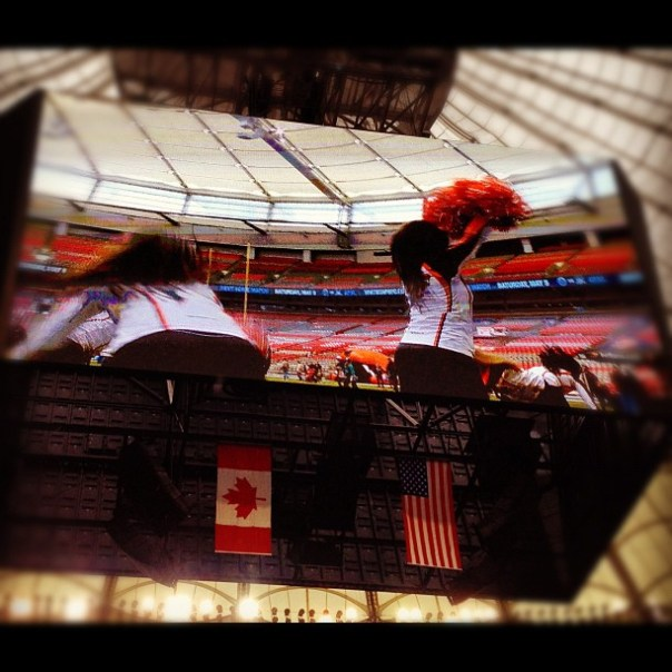 Oh yeah cheerleader yeah! @BCplace @BClions - from Instagram