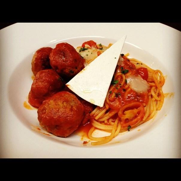 Mmm! Spaghetti & Meatballs! Snook snook! #Italian #Restaurant #vancouver - from Instagram