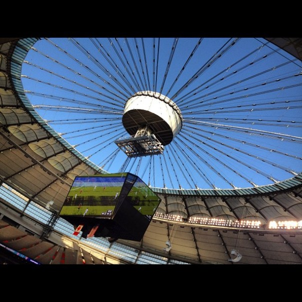 The roof is wide open today! #whitecapsfc vs. #TFC @bcplace - from Instagram