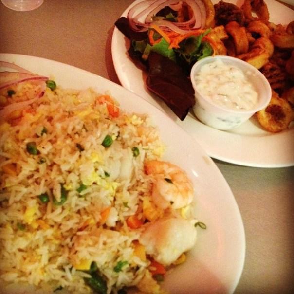 Late night #food #rampage! #seafood fried rice & #calamari #guiltypleasure - from Instagram