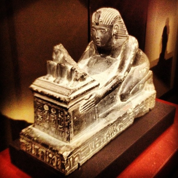 #Ramesses II kneels & offers a shrine with divinities. - from Instagram