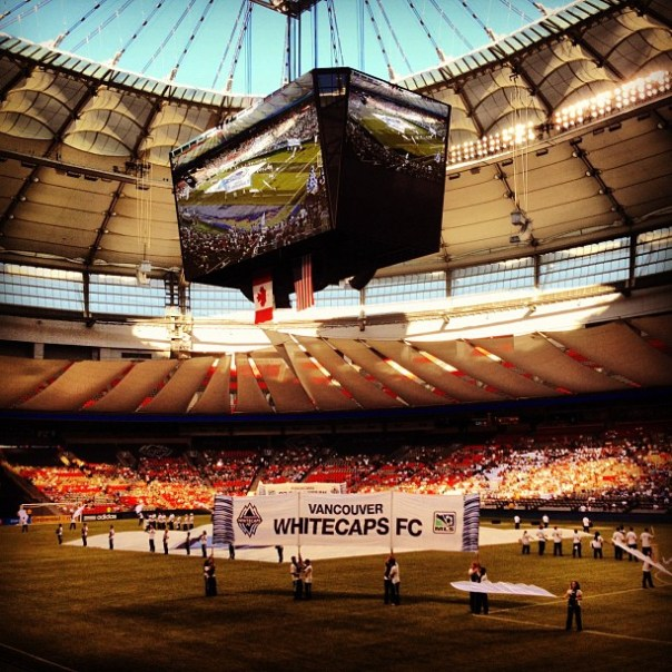 Here we go! @WhitecapsFC vs #FCDallas #BCPlace #Vancouver - from Instagram