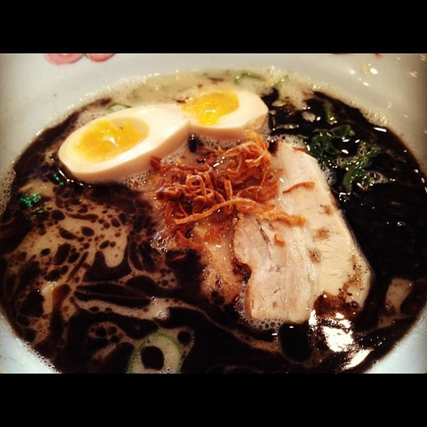 Black #Japanese #ramen! @Jinya_Ramen_Van w/ @jminter - from Instagram