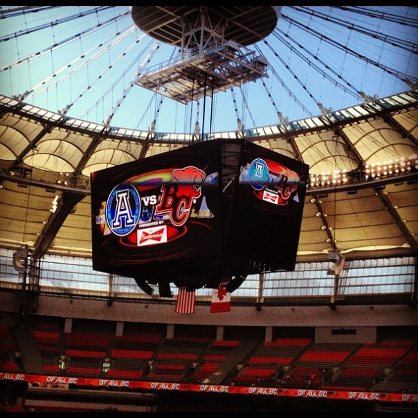 It's my first @BCLions game! Woohoo! #football #CFL - from Instagram