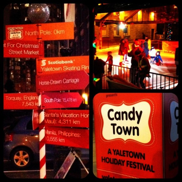 It's the #CandyTown #Holiday #Festival in #Yaletown - from Instagram