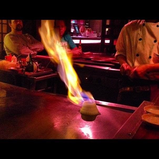 Show time! @ Kobe Japanese Steak House - from Instagram