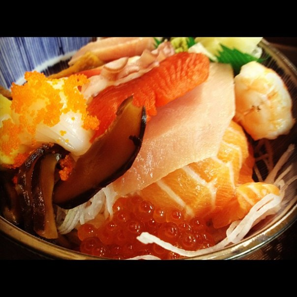 Oh yeah #Fresh #Chirashi don onegaishimasu! #sashimi #donburi - from Instagram