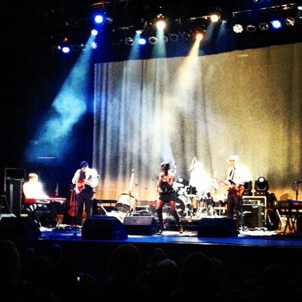 Tonye Aganaba & Foundation on the stage. @voguetheatre #celebration2012 #funky #jazz #blues - from Instagram
