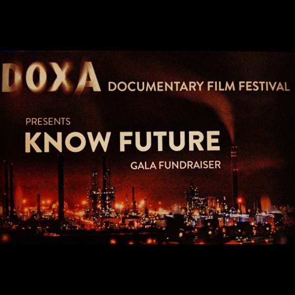Main event #1: Know Future presents #DOXA documentary film festival gala #fundraiser - from Instagram