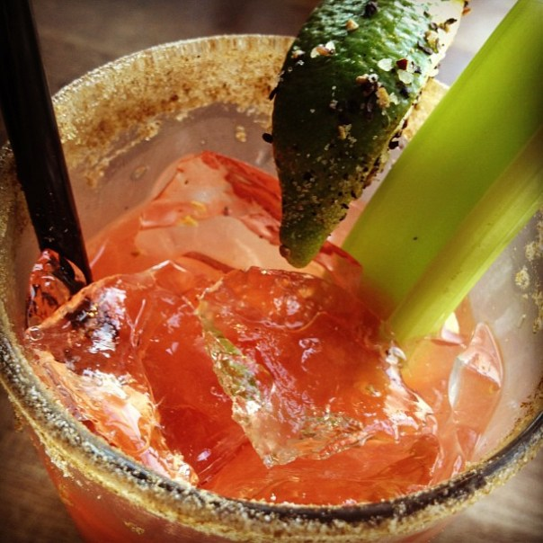 Long time no Moxies! #Caesar #Brunch #BloodyMary - from Instagram
