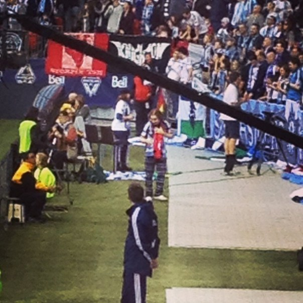 Oh ahaha! Go James Go! Don't get injured from chanting! #whitecapsfc - from Instagram
