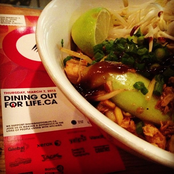 Everybody dine out tonight!! #DiningOutForLife @VanDOFL Thanks for reminding me @jminter - from Instagram