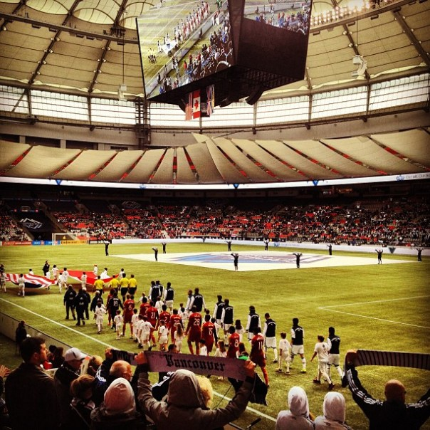 #Vancouver #WhitecapsFC vs Real Salt Lake. Btw, Aquariums West is right next to#BCPlace. - from Instagram