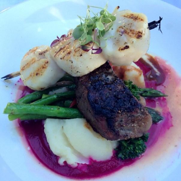 #Birthday dinner - Alaskan #Scallops + 6oz Sirloin #Steak @FishHouseSP - from Instagram