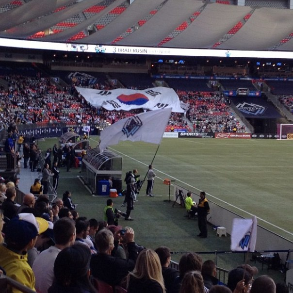 Today is Y.P. Lee's last game! #WhitecapsFC #VWFC #Vancouver #Korea - from Instagram