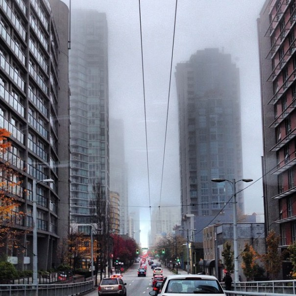 Entering #foggy downtown #Vancouver - from Instagram