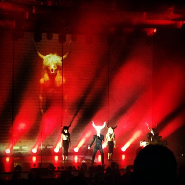 It's #Baphomet on the stage! #petshopboys #electric #concert #vancouver - from Instagram