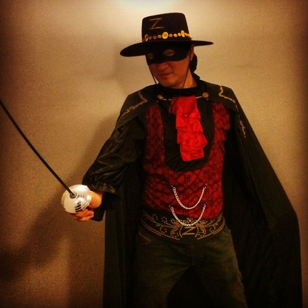 #Zorro - last seen last night @Celebrities_Van #halloween - from Instagram
