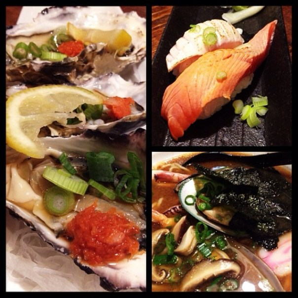 Royal Miyagi + Aburi Toro + Sockeye Salmon + Seafood Ramen! - from Instagram