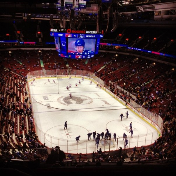 Finally made it to the game!  #Canucks vs. #Coyotes #Vancouver #Phoenix W/ @MaryInVancity - from Instagram