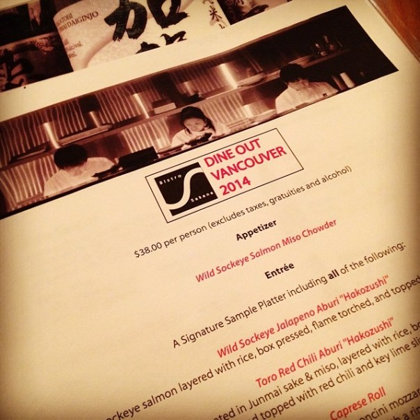 Finally it's Friday n I'm celebrating #DOVF tonight @BistroSakana #DineOutVanvouver - from Instagram