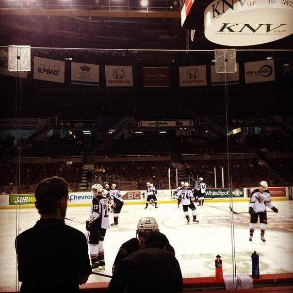 The best #hockey seat ever! @WHLGiants #Portland vs #Vancouver #PORvsVAN - from Instagram