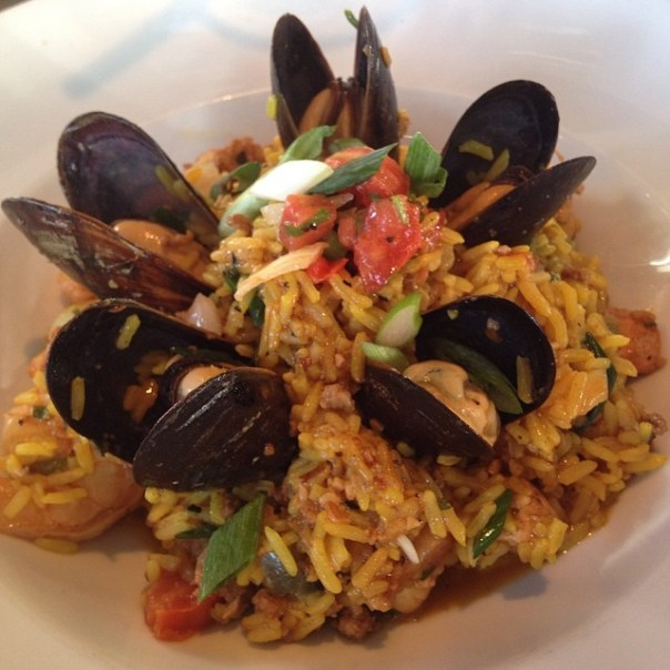 Fantastic Valencia #Paella from the executive chef - Jason Rosso #Foodiesunite @MilestonesCa - from Instagram