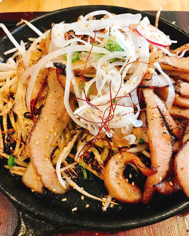 Miso glazed torched pork toro @marukoreanbistro ..#miso #pork #toro #korean #northvancouver #dinner #항정살 - from Instagram