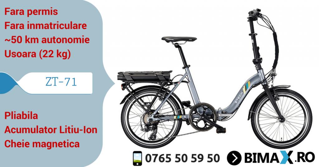 bicicleta electrica zt-71 pliabila